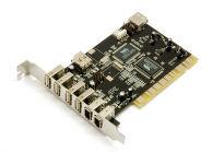 BLUESTORK Carte PCI combo 4+1 ports USB2.0 et 2+1 ports firewire1394¬